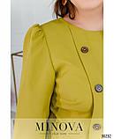 Женское платье с отрезной талией Костюмка Размер 50 52 54 56 58 60 62 В наличии 3 цвета, фото 4