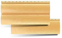 Сайдинг, блок-хаус золотистий. Сайдинг під колоду золотистий. Блок-хаус золотистий купити в Україні.