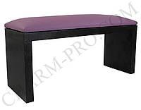 Маникюрная подставка для рук (Подлокотник) Фиолетовый на черных ножках