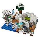 """Конструктор Bela Майнкрафт Полярное иглу аналог Lego Minecraft """"Домик для рыбалки"""" 284 детали scs, фото 2"""
