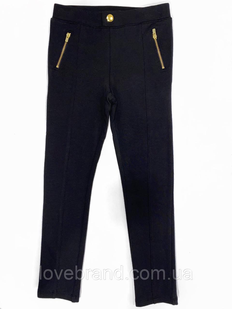 Треггинсы для девочки H&M в черном цвете в школу ейч енд ем 6-7 лет/122 см