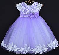 """Платье нарядное детское """"Исабель"""" с аппликацией 4-6 лет. Сиреневое. Оптом и в розницу, фото 1"""