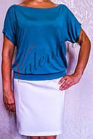 Летняя трикотажная блуза