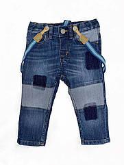 Джинсы на подтяжках H&M для мальчика 6-9 мес/74см