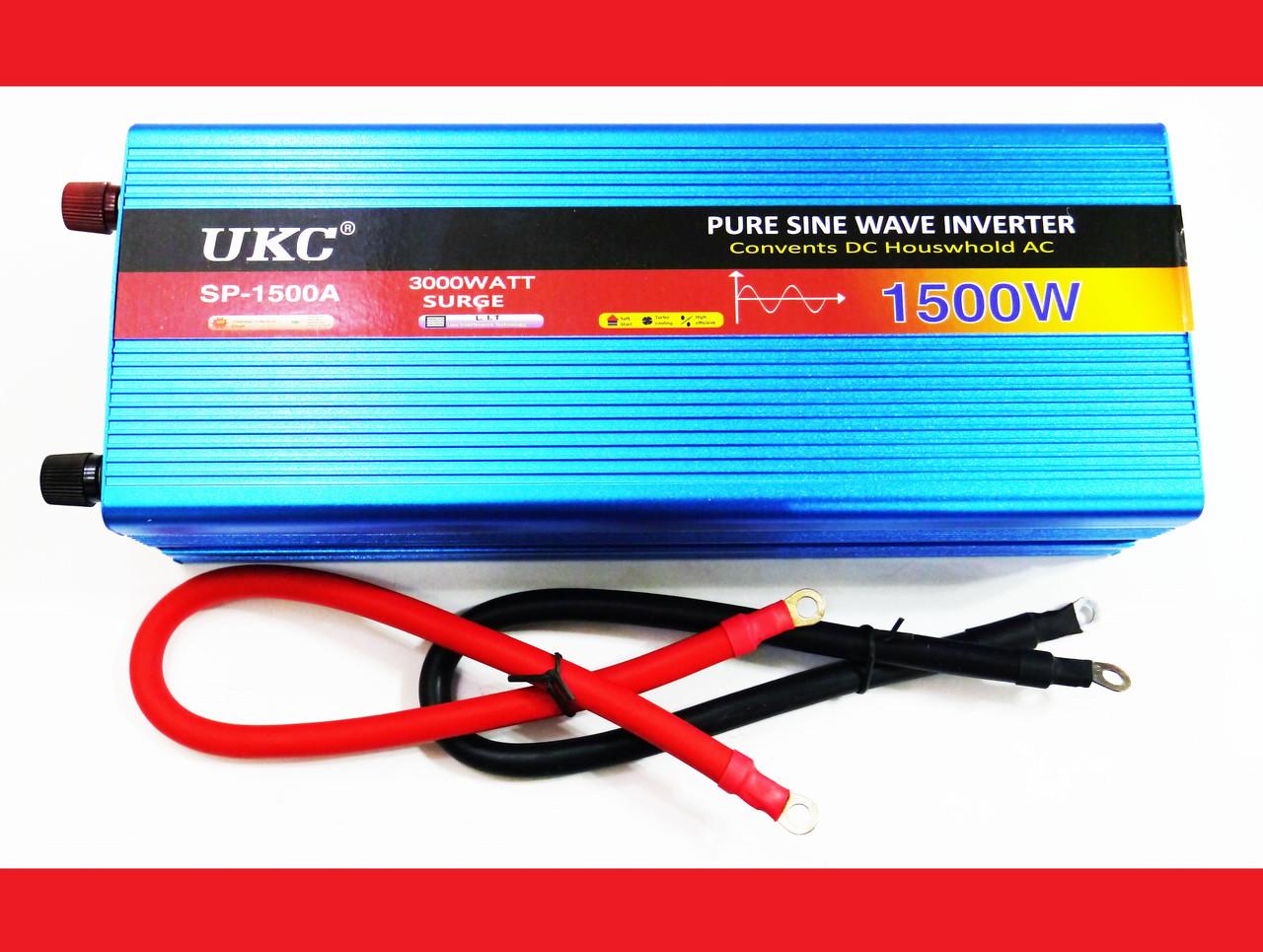 Преобразователь напряжения инвертор UKC 12- 220V 1500W - чистая синусоида