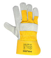 Перчатки DOLONI комбинированные (Спилок+ткань), фото 1