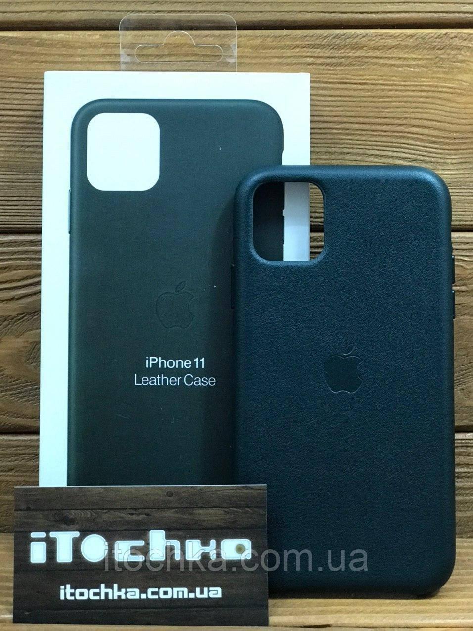 Чехол для iPhone Apple iPhone 11 Leather Case Forest Green
