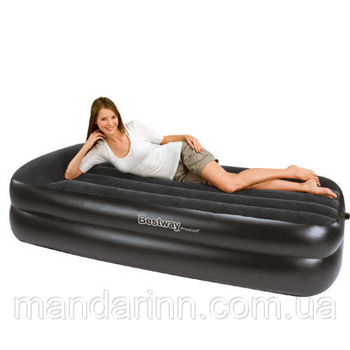 Надувная двухспальная кровать 203*152*46 см Bestway 67403 со встроенным эл. насосом 220V