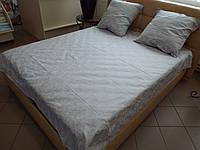 Постельное белье бязь Беларусь ГОСТ Вензель серый, фото 1