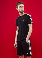 Комплект (шорты + футболка) Adidas - Line, Black