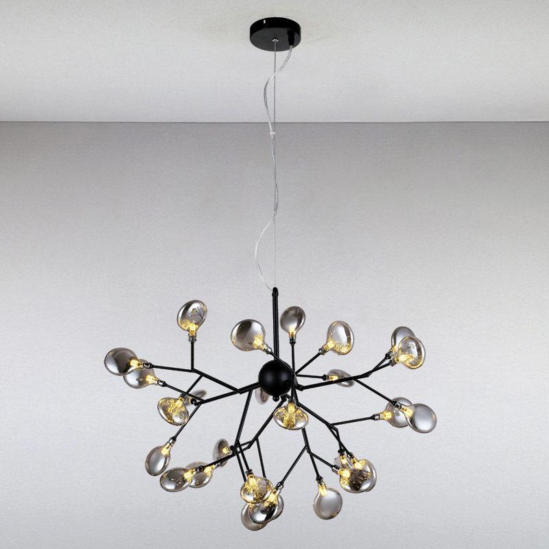 Люстра подвесная на двадцать семь ламп LS-813123/27 BK+BK  черный
