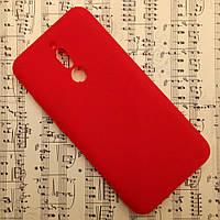 Силиконовый матовый чехол SMTT Candy для Xiaomi Redmi 8 (Красный)