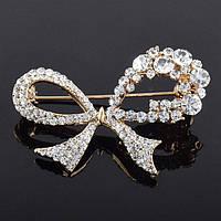 Брошь женская Crystal bow