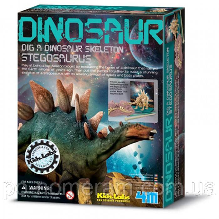 Раскопки динозавров. Стегозавр. 4М - Картины по номерам, раскраски по цифрам в Киеве