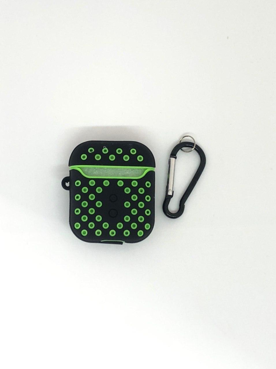 Чехлы Nike AirPods - №1, с карабином, силиконовые
