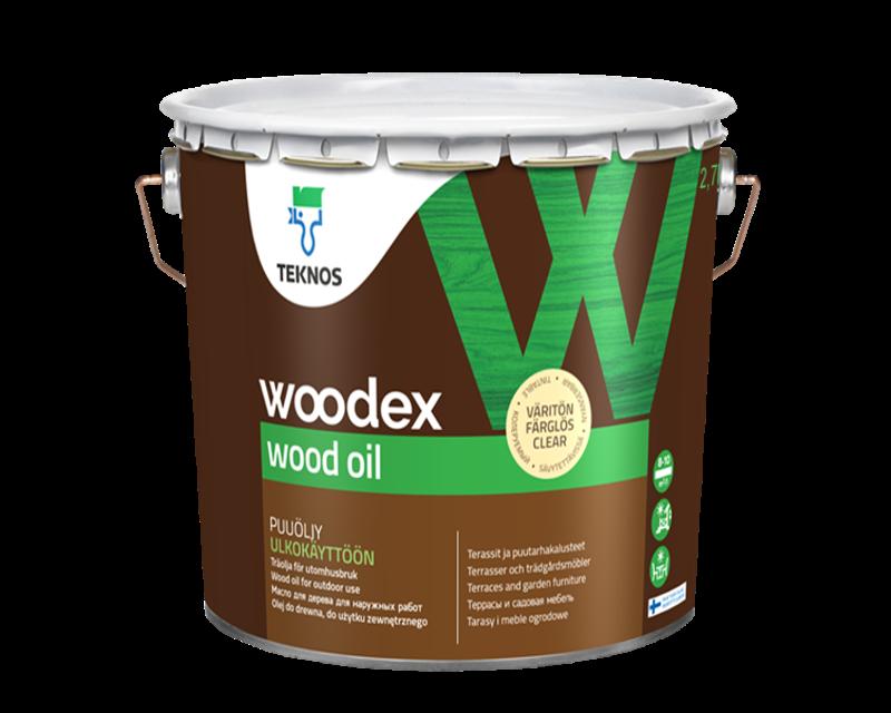 Масло влагозащитное TEKNOS WOODEX WOOD OIL  для древесины 2,7л