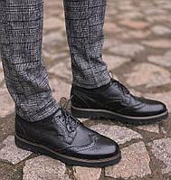 Мужские туфли кожаные броги