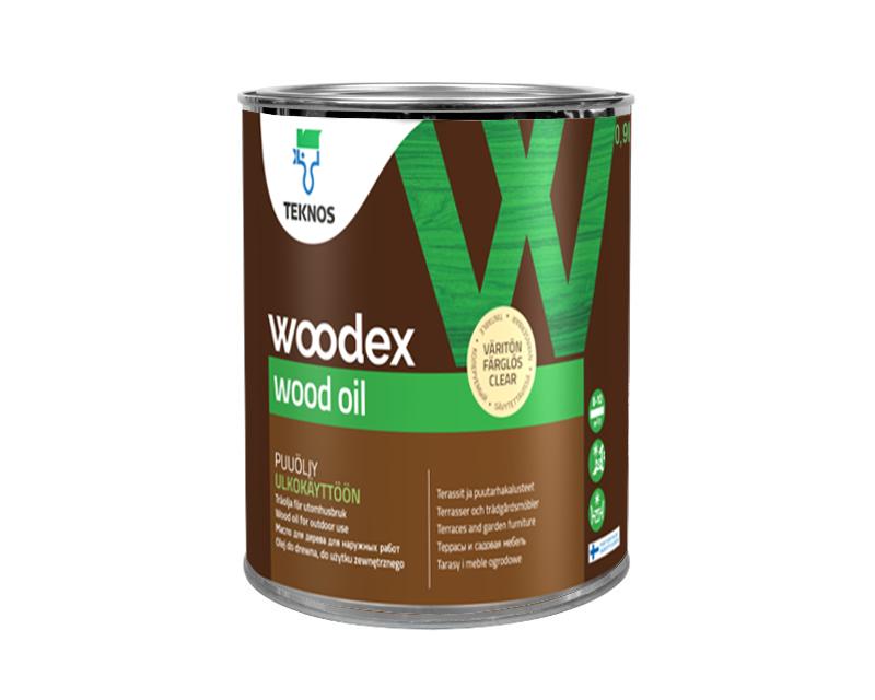 Масло вологозахисні TEKNOS WOODEX WOOD OIL для деревини 0,9 л