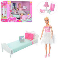 Мебель для кукол Anlily 99051 кровать аксессуары и шарнирная кукла