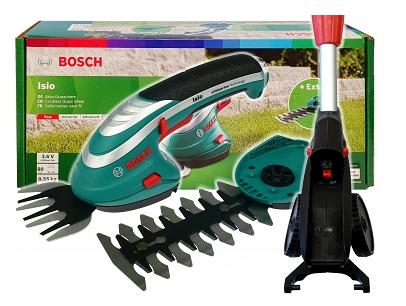 Аккумуляторные ножницы BOSCH ISIO 3 + 2 ножа + телескопическая штанга
