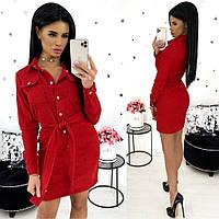 Стильне плаття жіноче з вельвету (5 кольорів) АА/-1317 - Червоний, фото 1