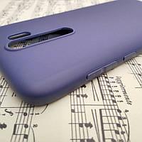 Силиконовый матовый чехол SMTT Candy для Xiaomi Redmi Note 8 Pro (Синий)