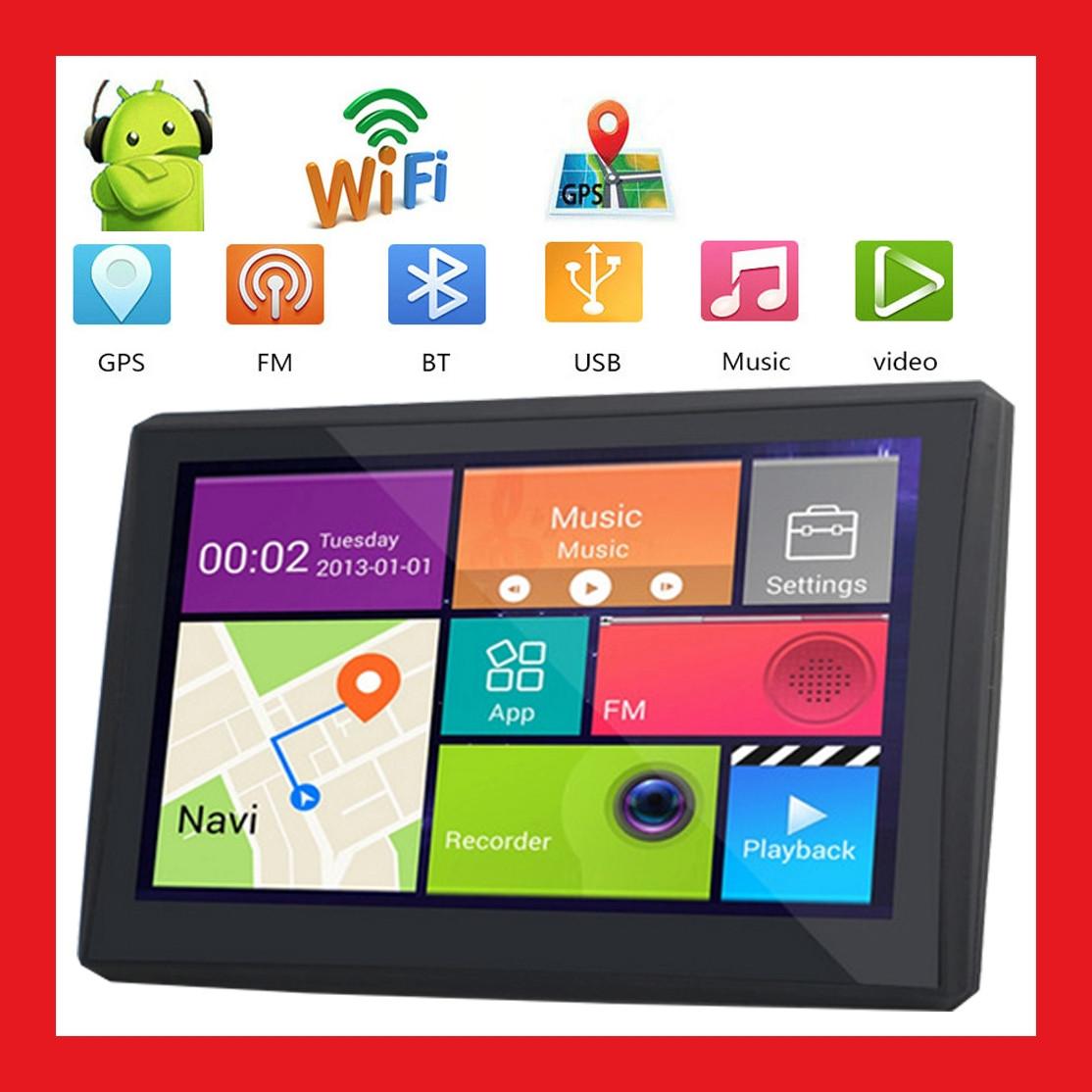Автопланшет на Android 4.4 GPS навігатор — відеореєстратор 1 Гб/ 16Гб