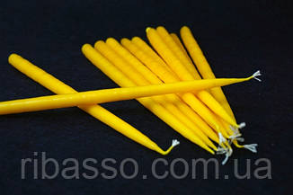 9060095 Свеча маканая желтая