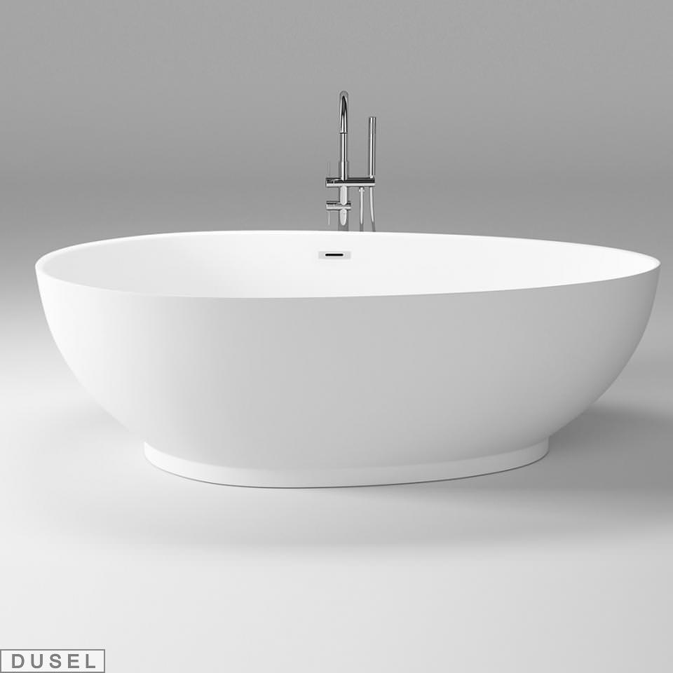 Отдельностоящая акриловая ванна с ножками Dusel DU106, 1800x900х580 мм