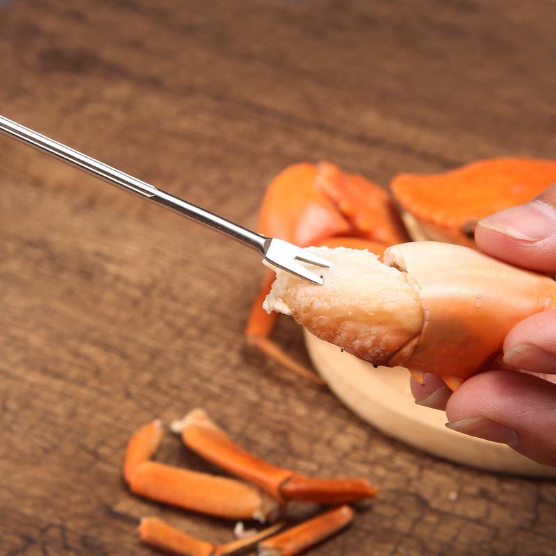Щипцы и вилка для краба  морепродукты 3