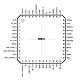 Микросхема чип Atheros AR8012-BG1A AR8012 QFP48 LAN контроллер 10/100Mbit, фото 2