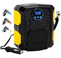 Автомобильный компрессор YY-3609 насос цифровой с насадками 10бар 12В