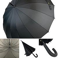 Полуавтоматический мужской зонт трость на 16 спиц от MAX, черный, 1003