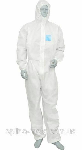 Одноразовый защитный комбинезон PP белый, 40 г/м.кв.