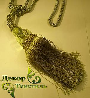 Кисти для штор №8 оливковые, подхваты (2шт), фото 2