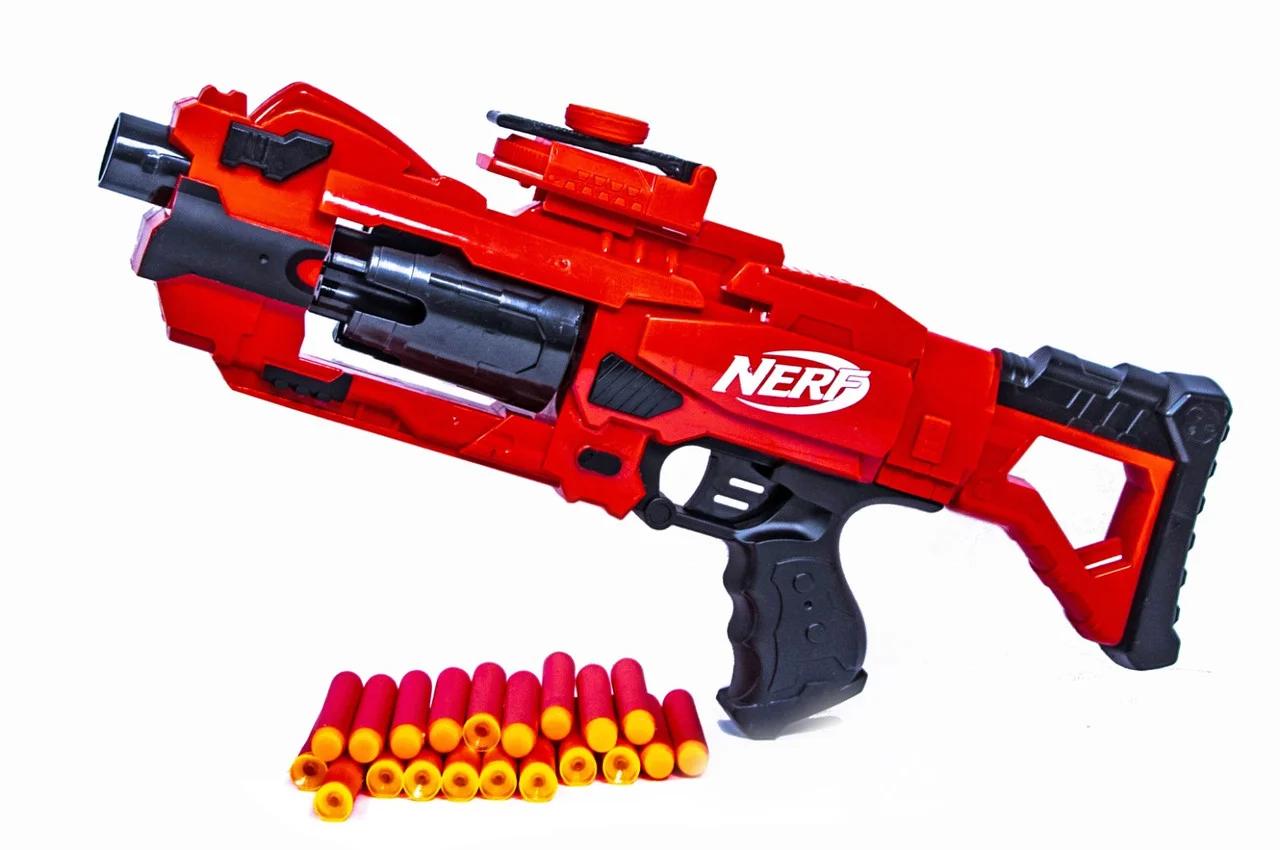 """Автомат бластер """"Nerf"""" с мягкими поролоновыми пулями \ Нерф Blaze Storm"""