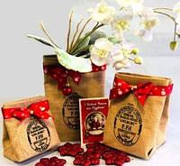Подарочная упаковка из мешковины, Корзинки и сумки из мешковины