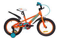 """Детский велосипед с дополнительными колесами 16"""" Formula JEEP 14G Оранжевый(OPS-FRK-16-070)"""