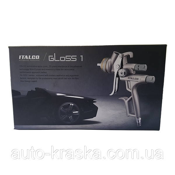 Краскопульт GLOSS 1 HVLP ITALCO 1.3мм  1.4мм