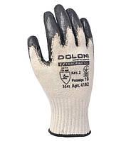 Перчатки рабочие ХБ с латексным покрытием Doloni Extragrab серые 4182