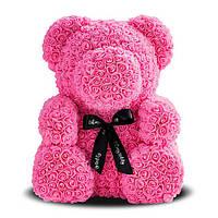 Мишко з троянд 25 див. (Рожевий Ведмедик) - 490 грн.