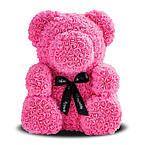 Мишка из роз 25 см. (Розовый Мишка) - 490 грн.