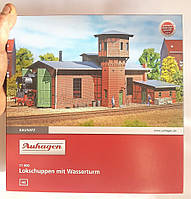 Auhagen 11400 Сборная модель - Локомотивное депо с водонапорной башней, масшатба H0,1:87, фото 1