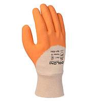 Перчатки трикотажные с латексным покрытием Doloni Extragrab оранжевые 4584