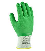 Перчатки трикотажные с латексным покрытием Doloni Extragrab зеленые 4526