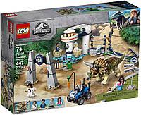 LEGO Jurassic World Ярость нападение трицератопса (75937)