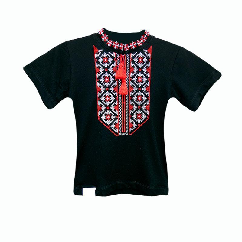 Вышиванка крестиком детская для мальчика с коротким рукавом. От производителя