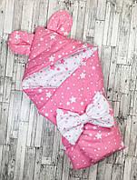 Одеяло конверт на выписку в роддом Лето для прогулок Звездочки