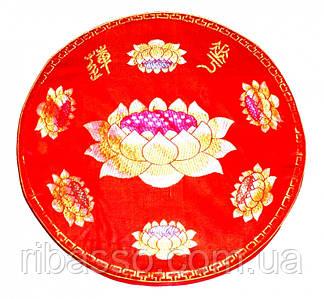 9040105 Подушка для медитации с поролоном малая красная