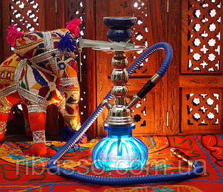 9010044 Кальян Китай со стеклянной колбой Синий
